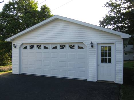 22 39 detached garage for Price of a two car garage