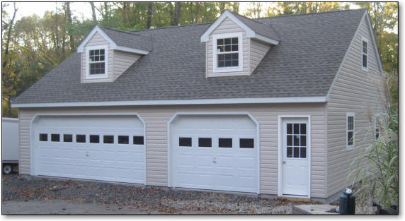 Amish Prefab Garages With Dormers : Amish road crew garage builders we build garages for