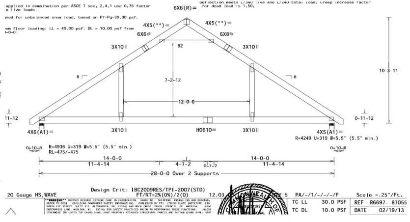 Woodwork 24 ft wood truss plans plans pdf download free Truss cost